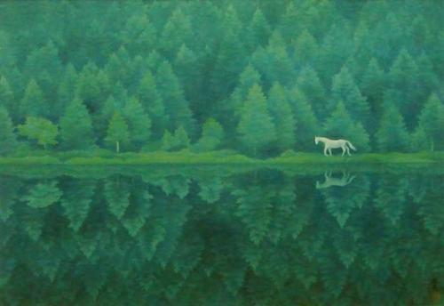 東山魁夷の「緑響く」