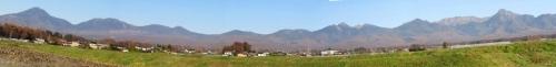 北・南八ケ岳の眺望合成画像p