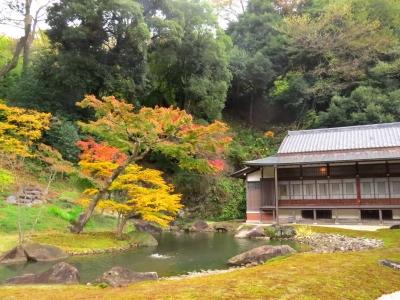 方丈庭園と紅葉a_1