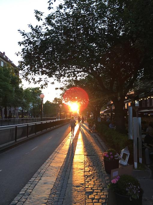 ヨーテボリの夕焼け