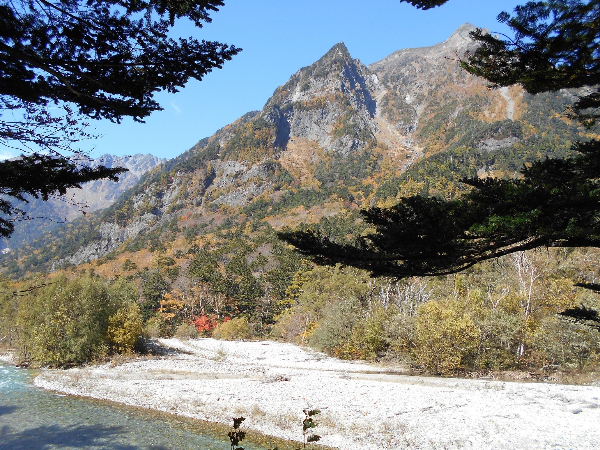 ⑮上高地⑲梓川と明神岳