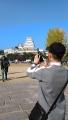 姫路城と上原さん