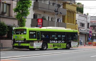 ロイヤルホームセンター南千住のラッピングバス(広告)