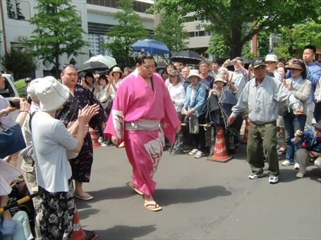 Sumo Wrestler watching ④