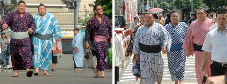 Sumo Wrestler watching ②&③