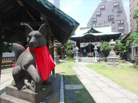 千束稲荷神社の狛狐