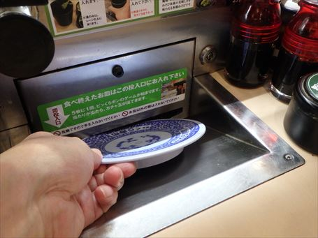 くら寿司 皿投入口