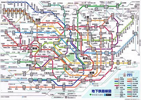 現在の地下鉄路線図