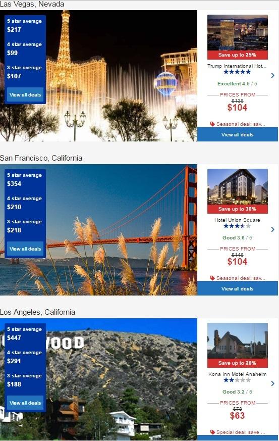 ユナイテッド航空経由のアメリカのホテル予約で最大40%割引1