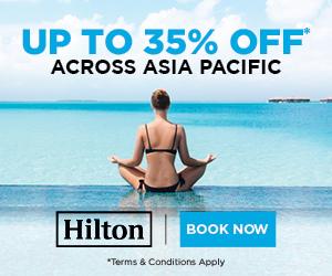ヒルトンホテルでアジア太平洋を対象とした35%OFFセール