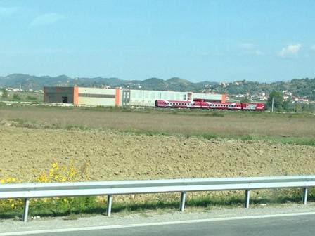 アルバニアの電車?