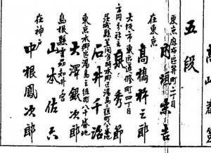 囲碁段級人名録(明治33年)