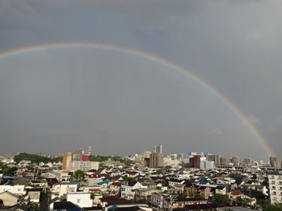 素晴らしい虹が・・・