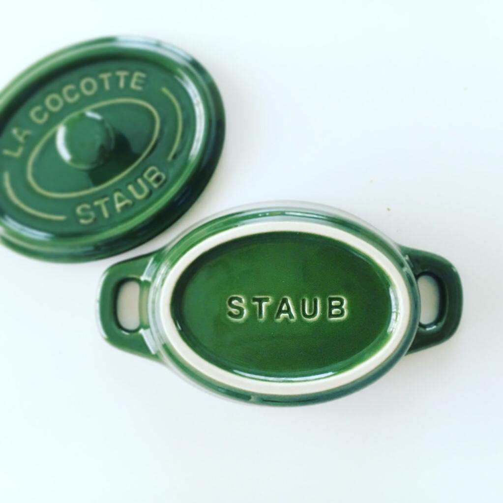 staub ストウブ セラミック ココット オーバル 11cm バジル