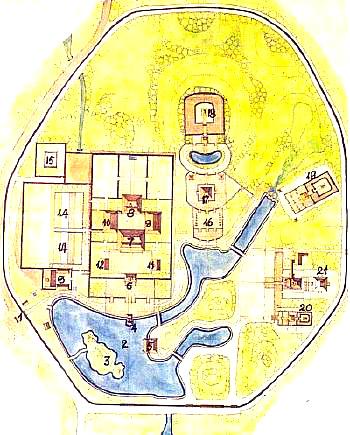 トゥドゥック帝陵見取図
