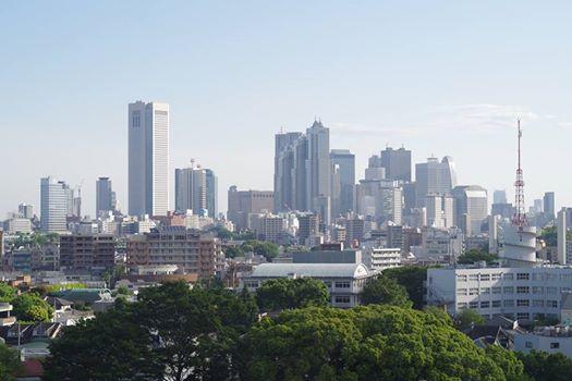 渋谷‐駒場から見た新宿副都心の高層ビル街
