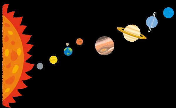 Solar System 太陽系のイラスト いらすとやより