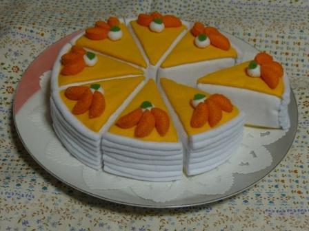フェルト手芸 オレンジムース 4