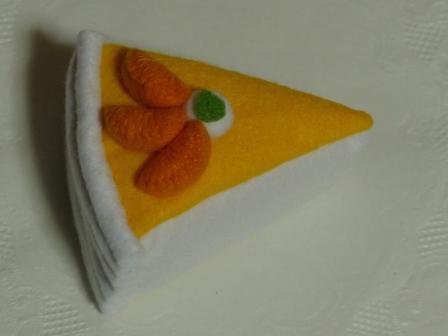 フェルト手芸 オレンジムース 2