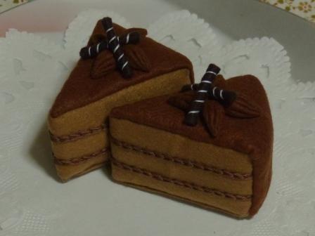フェルト手芸 チョコレートケーキ 1
