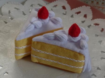 フェルト手芸 イチゴショートケーキ 1