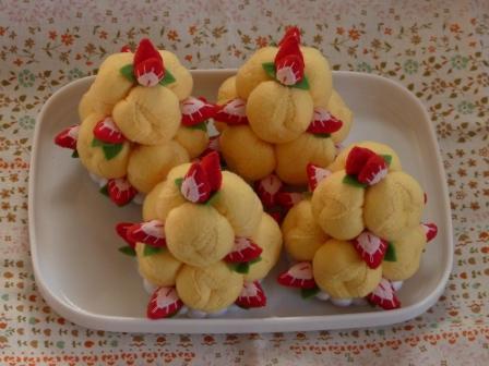 フェルト手芸 ケーキ シューツリー 4