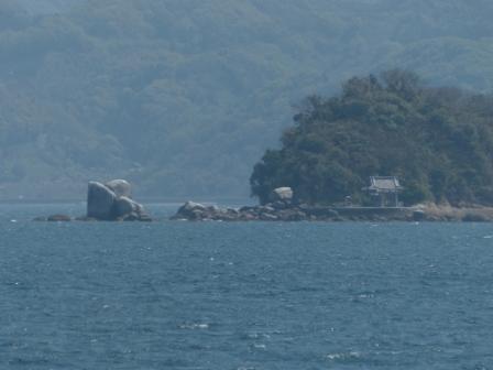 興居島から見た風景 白石ノ鼻