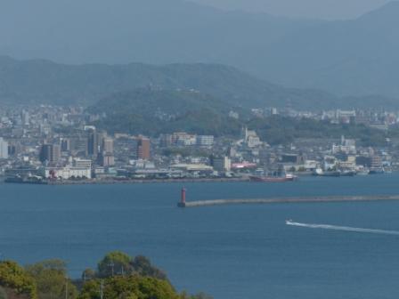 興居島から見た風景 高浜港
