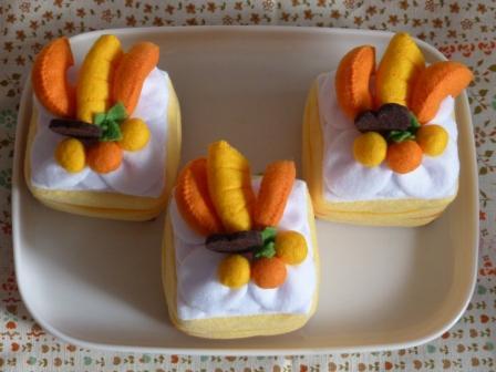 フェルト手芸 ケーキ シースクリーム 4