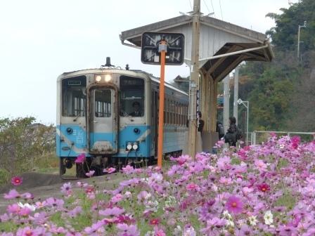 JR下灘駅 キハ54形 2