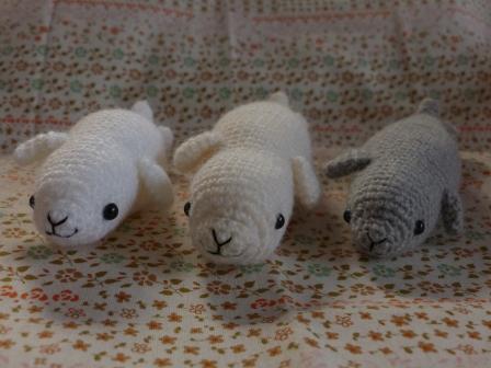 編みぐるみ ゴマフアザラシ 3