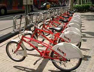 バルセロナのレンタサイクル