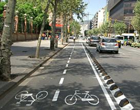バルセロナの自転車道