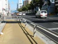 名古屋の自転車レーン
