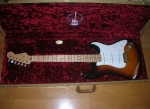fender 60th anniversary commemorative stratocaster case inside