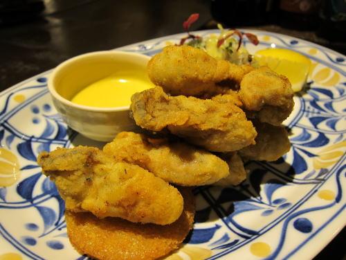 牡蠣の香草フライ
