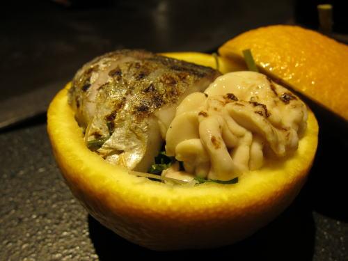 さごちと白子の柑橘釜