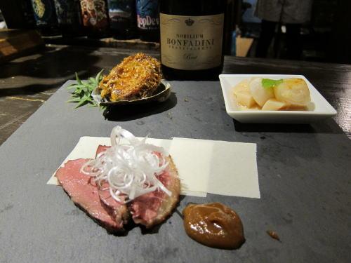 前菜3種(鴨・アワビ・ホタテ)