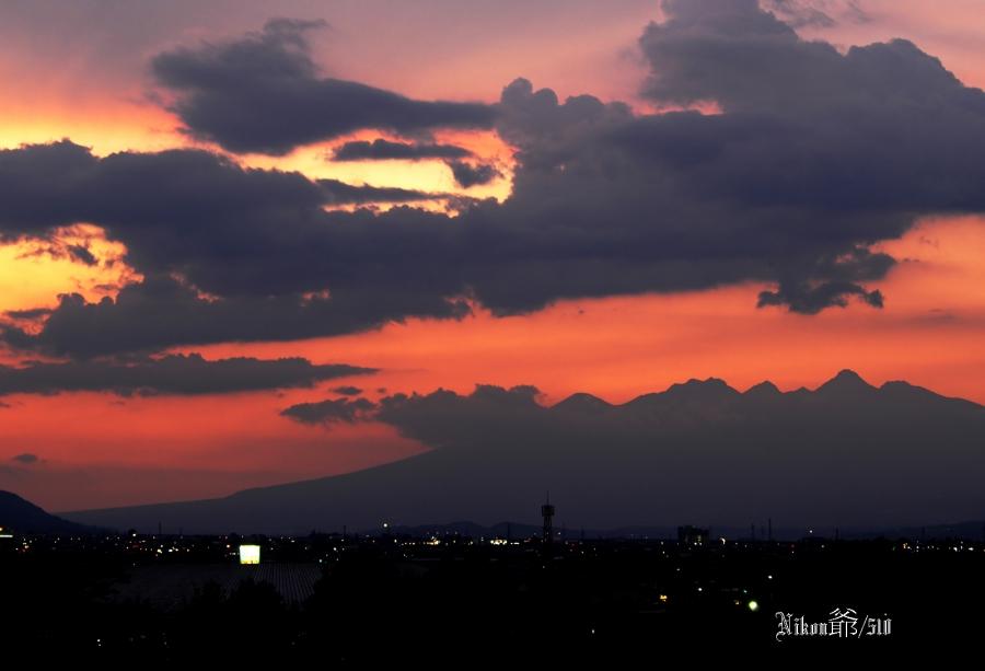 夕日の八ヶ岳_filtered-s