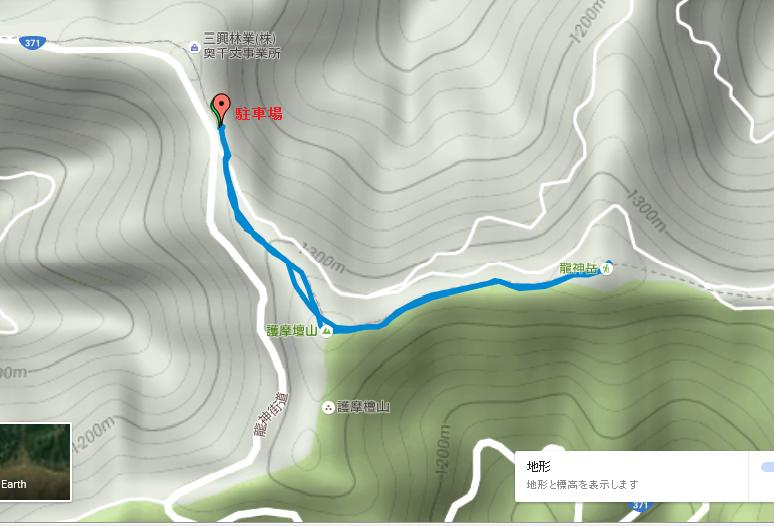 龍神岳/地図