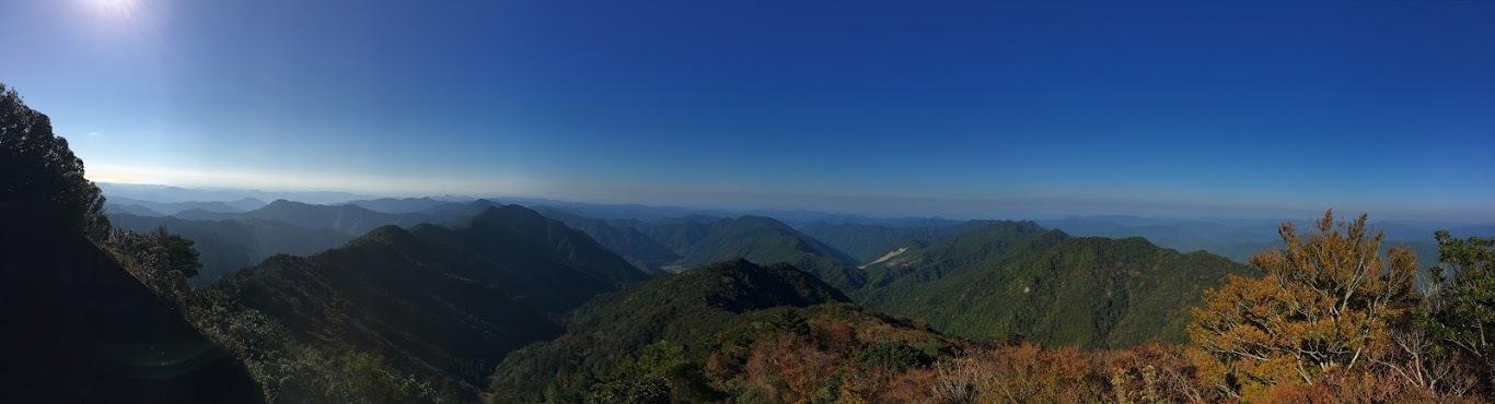 法師山/山頂からの景色