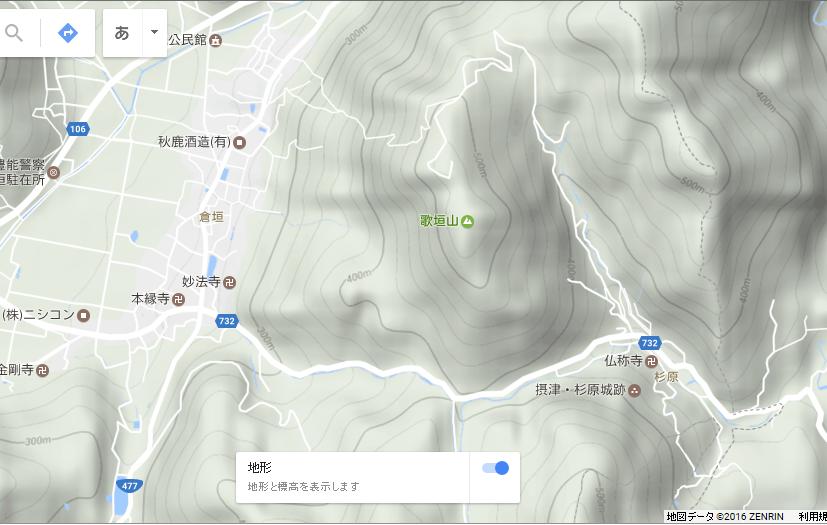 歌垣山/地図