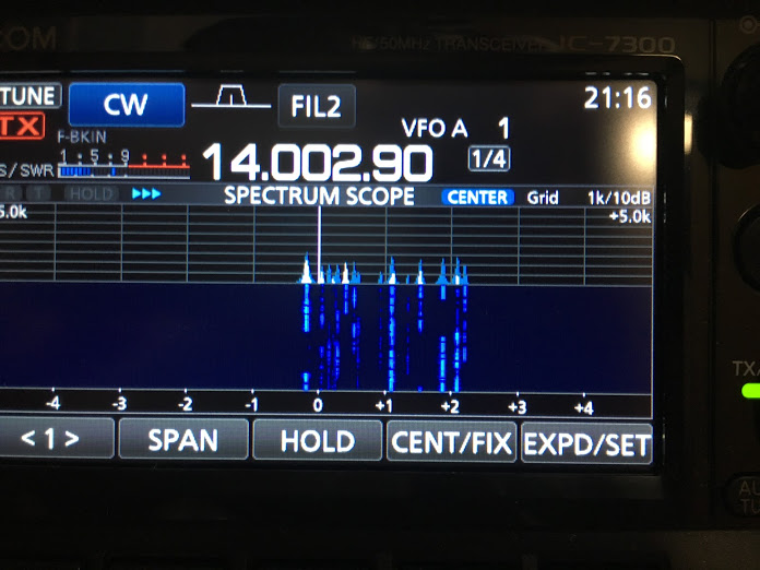 IC-7300/scope
