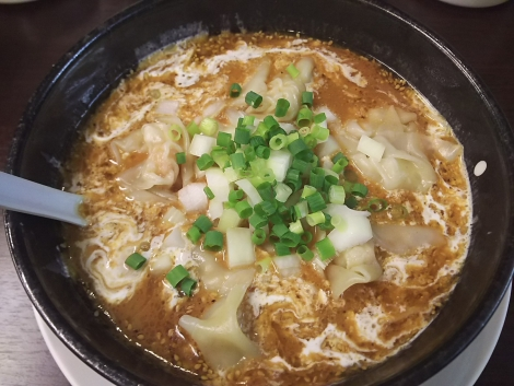 えび味噌ワンタン麺