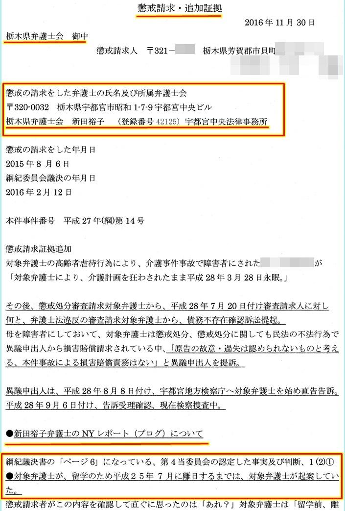 栃木県弁護士会 追加証拠 新田裕子弁護士 澤田雄二弁護士
