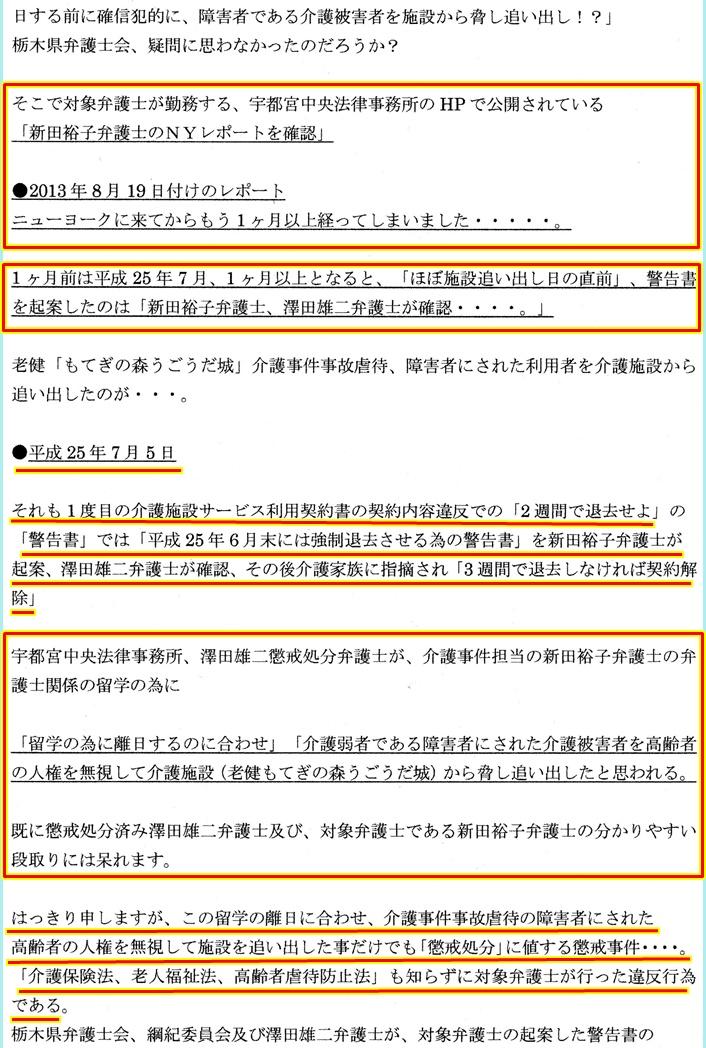 栃木県弁護士会 追加証拠 新田裕子弁護士 澤田雄二弁護士1