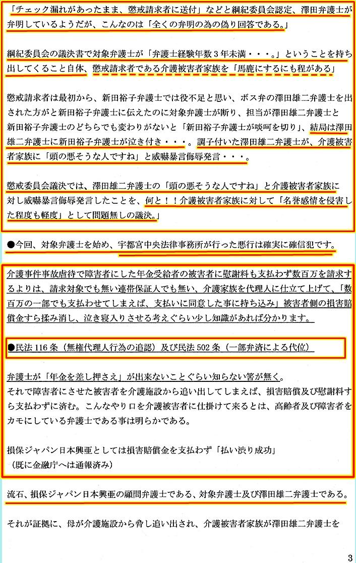 栃木県弁護士会 追加証拠 新田裕子弁護士 澤田雄二弁護士2