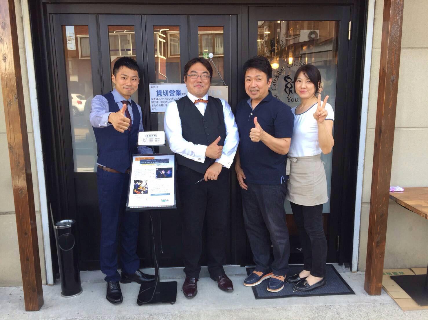 """160710 岩槻""""Cafe & Bal 結 You""""のご夫妻と!"""