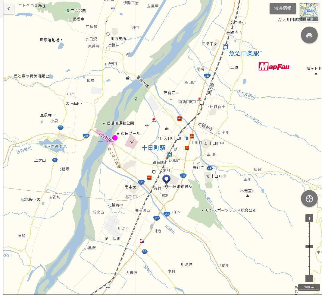 ●A十日町橋地図