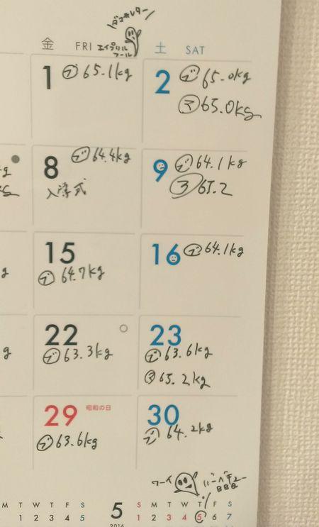 4月カレンダー記録